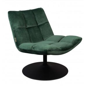Green velvet Lounge Chair Dutchbone