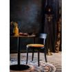 Chaise de repas velours jaune Ocre