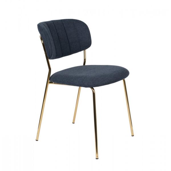 BELLAGIO - Chaise de repas bleu nuit