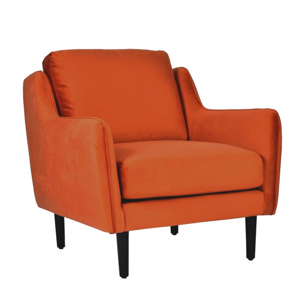 Fauteuil salon Soft Orange