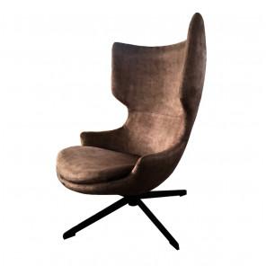 Torini - Fauteuil design taupe