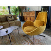 SPACE - Contemporary armchair in yellow velvet