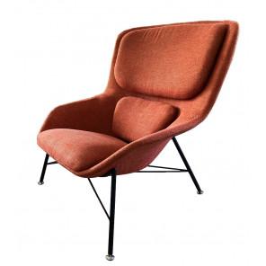 ROCKWELL - Modern armchair in orange fabric