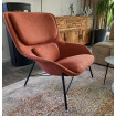 ROCKWELL - Modern armchair in orange fabric