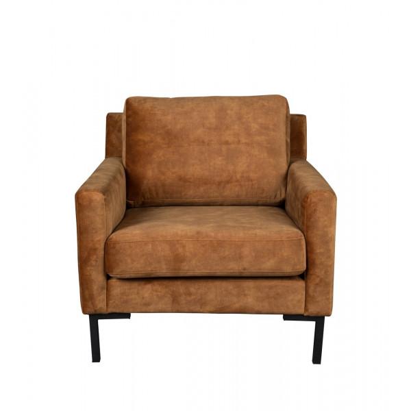HOUDA - fauteuil marron