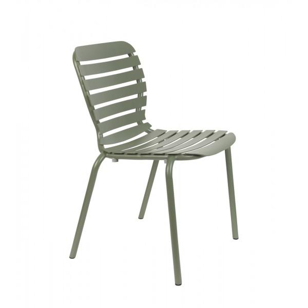 VONDEL - Chaise de jardin verte