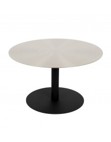 SNOW - Low round satin table L