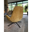 SPACE - Contemporary armchair in yellow velvet