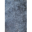 SPACE - Fauteuil contemporain en velours bleu/gris