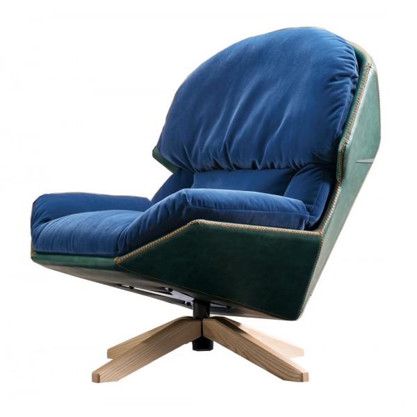Fauteuil design Austral bleu