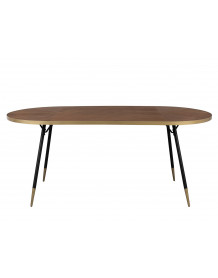 DENISE XL - Oval Dining Table art deco