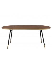 DENISE XL - Table de repas ovale art déco