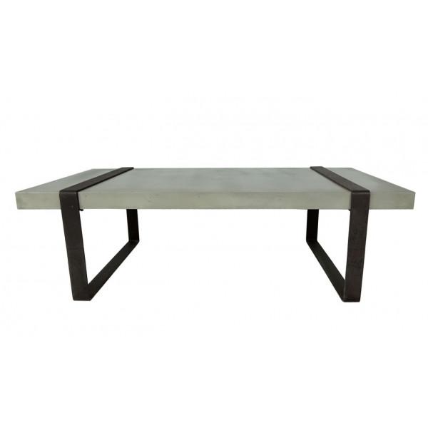 BETON - Table basse acier noir