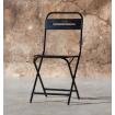 Chaise pliable acier noir