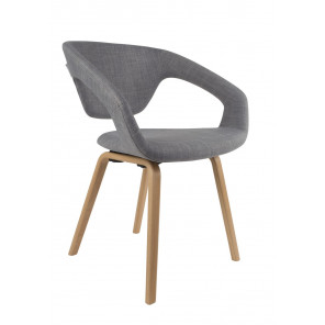Chaise design flexback grise zuiver