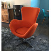 Fauteuil design Cocoon orange
