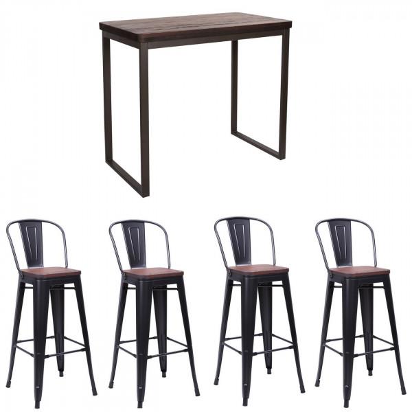 NEVADA - Dark heigh dining set 120