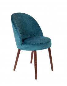 Blue Velvet dining chair Barbara
