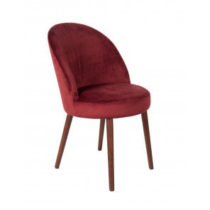 Red Velvet dining chair Barbara