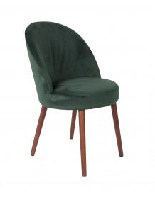 Green Velvet dining chair Barbara by Dutchbone