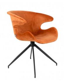 fauteuil repas design zuiver mia orange