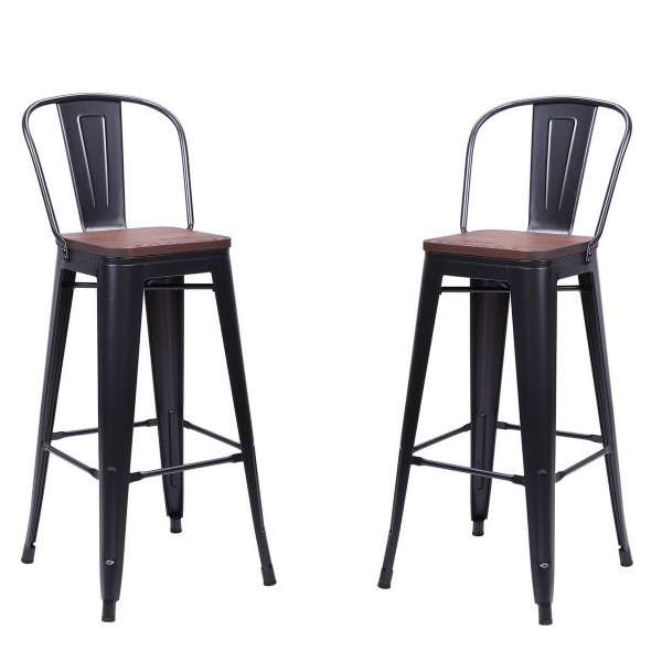 Bar chair Nevada with dark brown seat