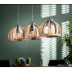 Dome hanging Lamp with 3 shades