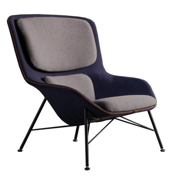 Blue-Grey Rockwell Armchair