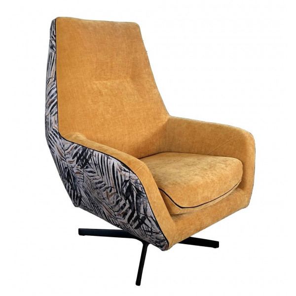 Fauteuil confort Jungle jaune