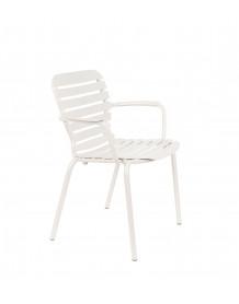 VONDEL - Chaise de jardin Accoudoirs argile