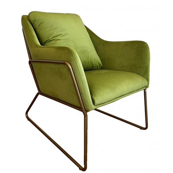 Green velvet armchair Golden