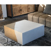 Table basse beton cube or