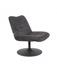 BUBBA - Fauteuil lounge Zuiver anthracite