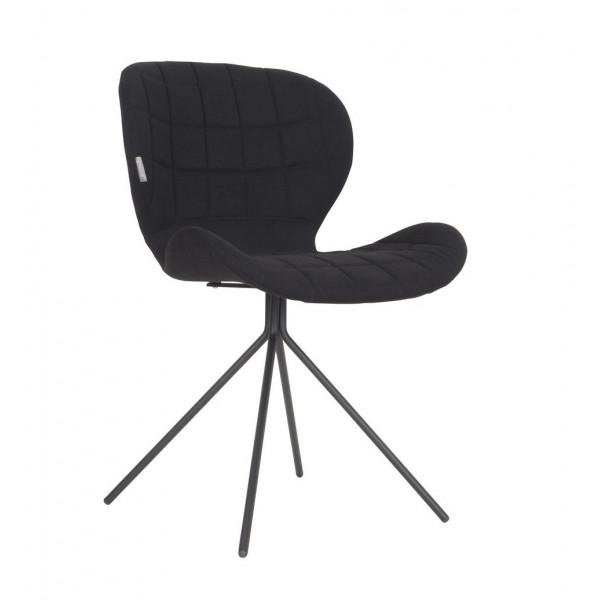 Chaise design OMG tissu noir chez Zuiver