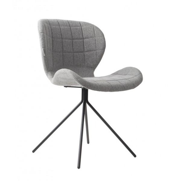 Chaise design OMG tissu gris
