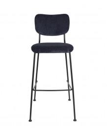 Dark blue Benson bar stool