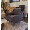 Fauteuil Soft velours taupe