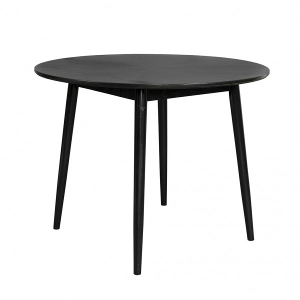 FAB - Round dining table in black oak