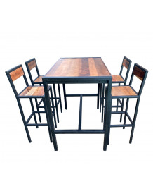 ATELIER - Heigh rectangular table and stools