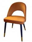 ARDEC - Chaise de salle a manger en velours orange