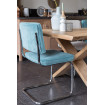 Ridge - Blue dining chair Zuiver