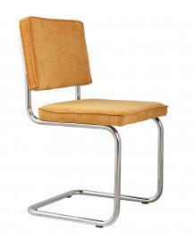 Ridge - Chaise en velours jaune