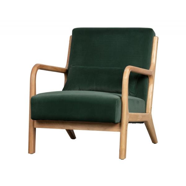 MARK - Fauteuil velours vert