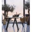 Table repas bois acier 210 cm woood