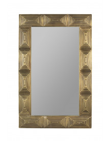 VOLAN - Miroir en bois plaque Laiton