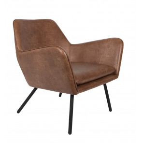 Fauteuil lounge Alabama brown vintage