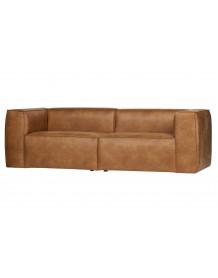 BEAN - 3 places Cognac sofa
