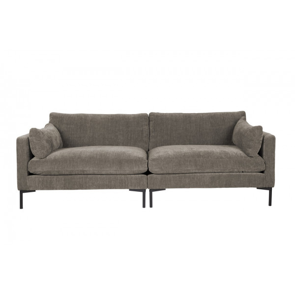 Summer Sofa by Zuiver in brown fabricc