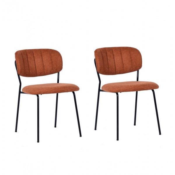 BELLAGIO - Dining chair in orange fabric