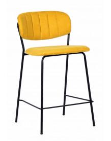 BELLAGIO - Chaise haute tissu jaune